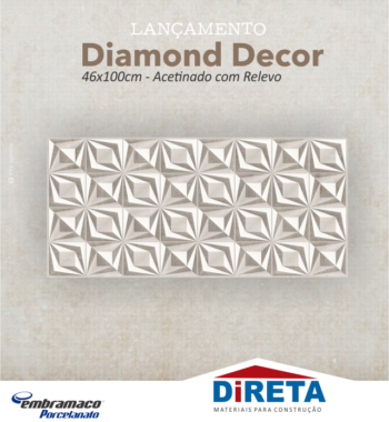 Diamond Decor Acetinado com Relevo 46x100cm